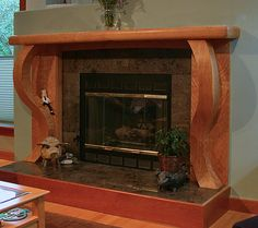 Figured Cherry Fireplace | Alan McWaters | Archinect