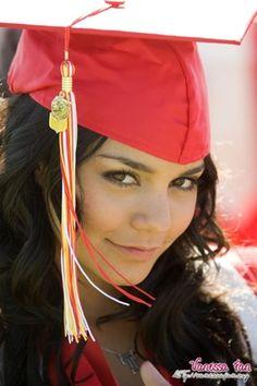Graduation Beauty – Vanessa Hudgens is Happiness College Graduation Photos, Graduation Photoshoot, Grad Pics, Graduation Pictures, Graduation Pose, Senior Portraits Girl, Senior Girl Poses, Girl Senior Pictures, Senior Girls