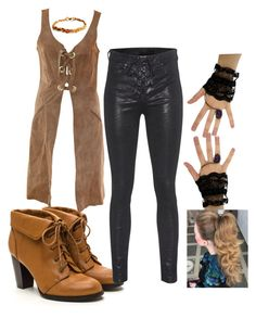 """""""Leather and lace to start your day"""" by tori-holbrook-th on Polyvore featuring rag & bone and Janis"""