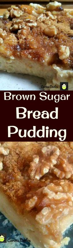 Brown Sugar Bread Pudding is a classic dessert and very flexible with add ons such as nuts, dried fruits, or just keep it simple. That addition of the brown sugar makes this out of this world! Freezer friendly too! Just Desserts, Delicious Desserts, Dessert Recipes, Raspberry Desserts, Bread Recipes, Baking Recipes, Raisin Recipes, Walnut Recipes, Fudge