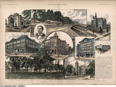 In 1889 Terre Haute was described by Frank Leslie's Illustrated Newspaper as the center for trade, literature, and education because of the many railroads that converged on the city, and the fine colleges and public school system located there.