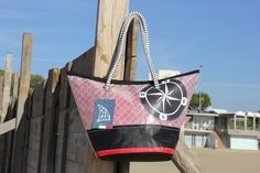 Handmade bag made with recycled sail and Wind Rose #madeinitaly #sail #bags