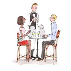 Bonheur (n.m) : lorsque le repas que l'on a commandé au resto arrive enfin à table.