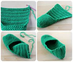 The secret to crocheting slippers/socks Crochet Ripple, Crochet Motif, Easy Crochet, Crochet Stitches, Crochet Baby, Knit Crochet, Diy Crochet Slippers, Crochet Slipper Pattern, Crochet Shoes