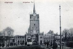 Rostock Kröpeliner Tor mit Straßenbahn um 1910