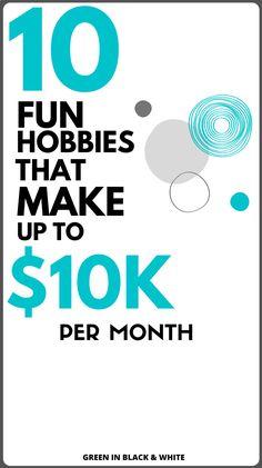 Make Money Doing Your Hobbies - Start A Business From Home, Cash From Home, Earn Money From Home, Make Money Online, Online Income, Online Earning, Online Jobs, Make Side Money, Ways To Earn Money