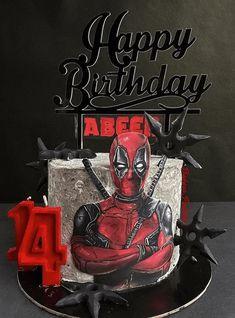 Cake Designs Images, Cool Cake Designs, Deadpool Cake, Fruit Cake Watermelon, Marvel Cake, Baker Cake, Animal Cakes, Birthday Cakes For Men, Disney Cakes