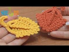 Crochet Triangle Leaf Picots Around How To Tutorial 19