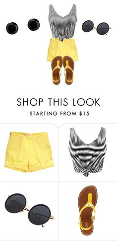 """""""Black and Yellow"""" by phoridavies on Polyvore featuring WithChic, Michael Kors and BillyTheTree"""