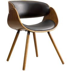 Corvus Walnut and Black Mid Century Bentwood Accent Chair ($121) ❤ liked on Polyvore featuring home, furniture, chairs, black, mid century modern chairs, mid-century modern furniture, bentwood furniture, colored chairs and black walnut furniture