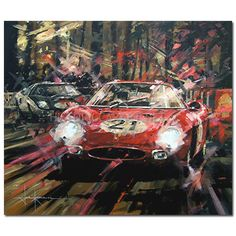 """Evening Shadows"" by John Ketchell - Ferrari 250LM"