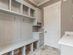 Home Remodeling Mudroom The Jennings Plan built by Jarman Homes Laundry room/Dropzone - Custom Home Builders, Custom Homes, Armoire, Mudroom Laundry Room, Drop Zone, Home Upgrades, Planer, Home Remodeling, New Homes