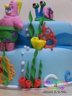 Tarta Bob Esponja - Sponge Bob cake https://www.facebook.com/pages/EMPEZANDO-A-EMPEZAR/210185612374504 http://empezandoaempezar.blogspot.com.es/