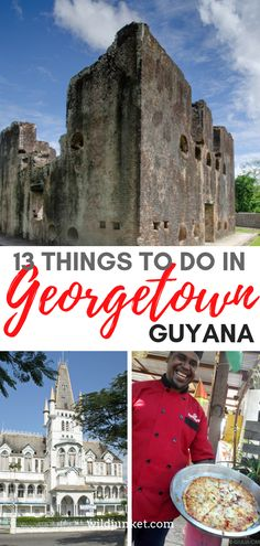 Most people who travel to Guyana head straight into its jungle — but its capital Georgetown makes a good introduction to the country. Here are the best things to do in Guyana. Georgetown Guyana, Stuff To Do, Things To Do, Peru Travel, South America Travel, Travel Information, Day Trips, Family Travel, Adventure Travel