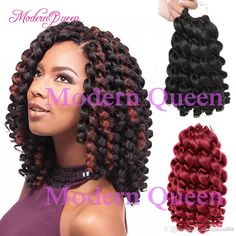 Synthetic Braiding Hair Bulk 2X Jumpy Wand Curl Jamaican Bounce Twist  Synthetic Crochet Braids Hair Extensions 8 10 Inch Crochet Braid Hair  Brazilian Hair ... c7082fb4b35f