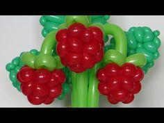 Ягода малина из шаров / Raspberry of balloon, twisting - YouTube