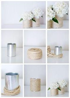 Diy Crafts For Home Decor, Diy Crafts Hacks, Diy Room Decor, Diy Projects, Tin Can Crafts, Jar Crafts, Boho Diy, Diy Art, Easy Diy