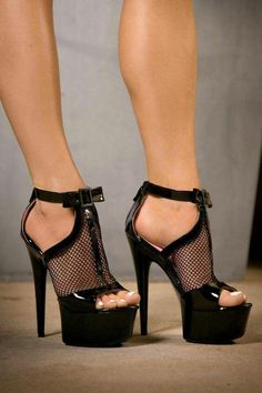 Pin by Hot High Heels on Black high heels in 2019 High Heels Boots, Platform High Heels, Black High Heels, High Heels Stilettos, Stiletto Heels, Black Shoes, Ankle Boots, Sexy Heels, Lace Up Heels