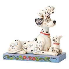 Disney Traditions Puppy Love Pongo With Penny & Rolly Figurine 4054278