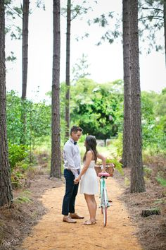 Kelly and Lloyd's Tsitsikamma Forest E-Shoot; Blue and Pink Vintage Bicycle