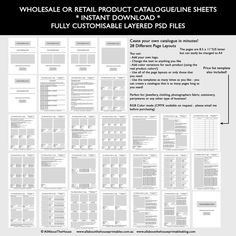 How To Create A Wholesale Line Sheet  Order Form  Wholesale