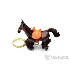 GENUINE 3D LEATHER GALLOPING HORSE KEYCHAIN MADE BY SKILLFUL CRAFTSMEN OF VANCA CRAFT IN JAPAN. #handmade #keyfob #gift #unique #art #design #cute #horse #epuine