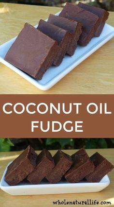 Coconut oil fudge   Clean eating fudge   Healthy fudge   Paleo fudge