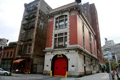 Ghostbusters (1984). 8 Hook and Ladder, North Moore Street, Tribeca, New York. The firehouse that becomes the Ghostbusters' HQ (though the interior was filmed in Los Angeles).