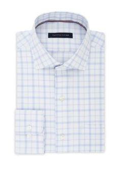 Tommy Hilfiger Men's Tommy Hilfiger Non Iron Regular Fit Dress Shirt - Blue - 14.5 32/33