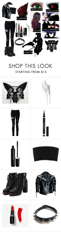 """""""Tokyo ghoul oc #2"""" by gglloyd ❤ liked on Polyvore featuring Maison Kitsuné, Cristina Ortiz, Miss Selfridge, Yves Saint Laurent, Marc Jacobs, Calvin Klein Collection, Leka and WithChic"""