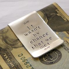 money clip with message