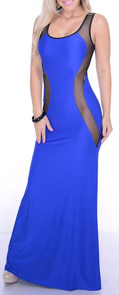 Blue sexy expose dress