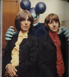 george and ringo with a blue meanie.