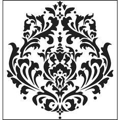 Damask Stencil Cutting Edge Stencils - Brocade Stencil - for painting on furniture.Cutting Edge Stencils - Brocade Stencil - for painting on furniture. Cutting Edge Stencils, Damask Stencil, Stencil Patterns, Stencil Designs, Stencil Walls, Damask Patterns, Painting Stencils, Bird Stencil, Faux Painting