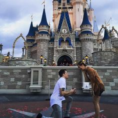 This couple got engaged at Disney World in the most magical proposal! Everyone needs to see this sweet proposal video.