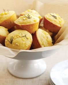 In muffins made with corn and cornmeal, the grain's sweetness is a perfect match for the aromatic intensity of rosemary.