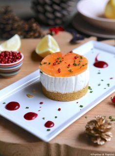 #Cheesecake au #saumon fumé et coulis de betterave #Recette #saumonfumé #recettedefête