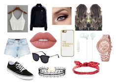"""""""Causal day out with the bae"""" by lovinglife56 on Polyvore featuring Alexander Wang, adidas Originals, Vans, Lime Crime, BaubleBar, Sony, LULUS and Charlotte Russe"""