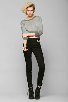 CourtShop X UO High-Rise Military Skinny Jean