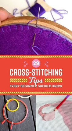 29 Ridiculously Helpful Tips For Anyone Who Wants To Learn How To Cross-Stitch. I'm no beginner but even I learned some new tips! 29 Ridiculously Helpful Tips Cross Stitch Samplers, Cross Stitch Embroidery, Embroidery Patterns, Hand Embroidery, Counted Cross Stitch Patterns, Stitching Patterns, Cross Stitch Fabric, Indian Embroidery, Cross Stitch Beginner