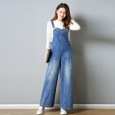 a6bd08e75edd SHINYMORA 2018 Summer Jeans Overalls for Women Female Loose Denim Jumpsuits  Rompers Casual Wide Leg Soft
