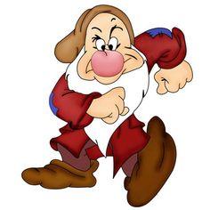 Snow White and Seven Dwarfs - Grumpy - dwarf … Disney Love, Disney Magic, Disney Art, Walt Disney, Images Disney, Disney Pictures, Disney Cartoon Characters, Disney Cartoons, Grumpy Dwarf