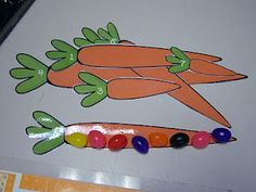 Carrot measurement with jelly beans