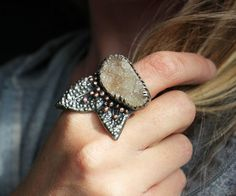 LOVE THIS GORGEOUS RING!!!  Nether Gardens Ring  Druzy Sterling Silver by littleWingedHeart