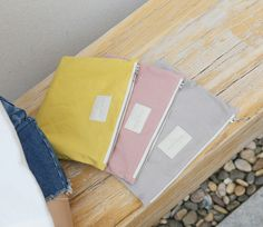 Keep your stuff safe and sound with these ultra chic and durable pastel colored pouches!