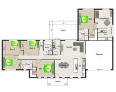 house plan with granny flat attached - Google Search | Favorite ...