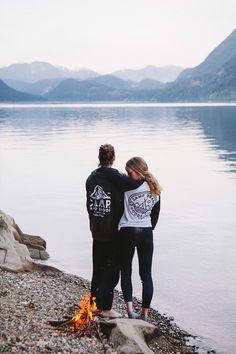 Camp Brand Goods Peak Zip Hoodie Sweatshirt and Good Company Baseball 3/4 T-shirt.