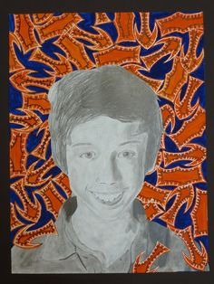 The Calvert Canvas: Adventures in Middle School Art! portraits after Kehinde Wiley