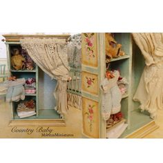 Country Baby Armoire by MaritzaMiniatures on Etsy, $255.00