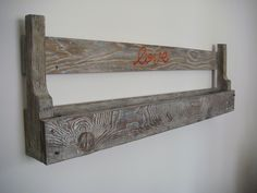 Shelf made with rustic pallet, brushed and polished handmade with natural wax.